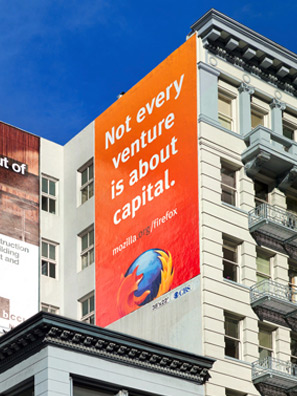 Mozilla Firefox billboard, San Francisco